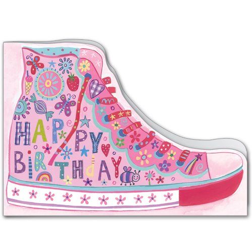 Pink Sneaker Birthday Card.  £1.75 or buy 10 and pay for 8!