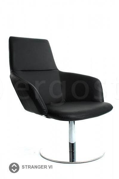 Stranger Vi - элегантное офисное кресло на одной опоре, выполненной из чугуна