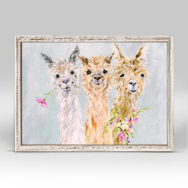 Sweet Alpacas Mini Framed Canvas