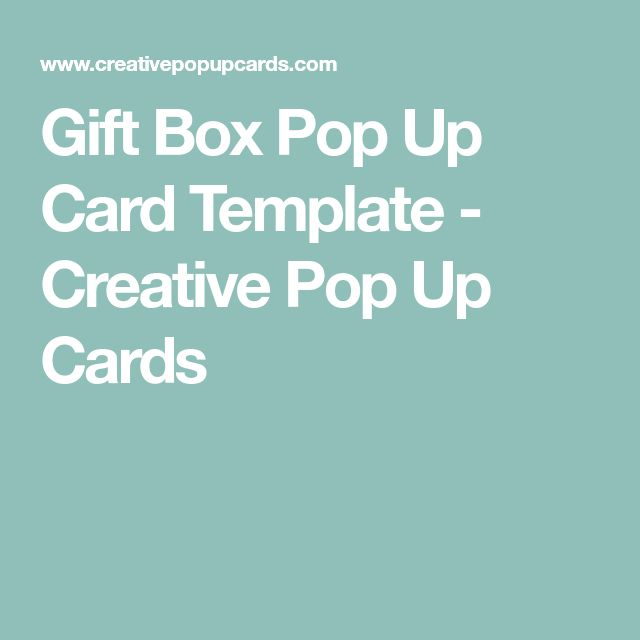 Gift Box Pop Up Card Template - Creative Pop Up Cards