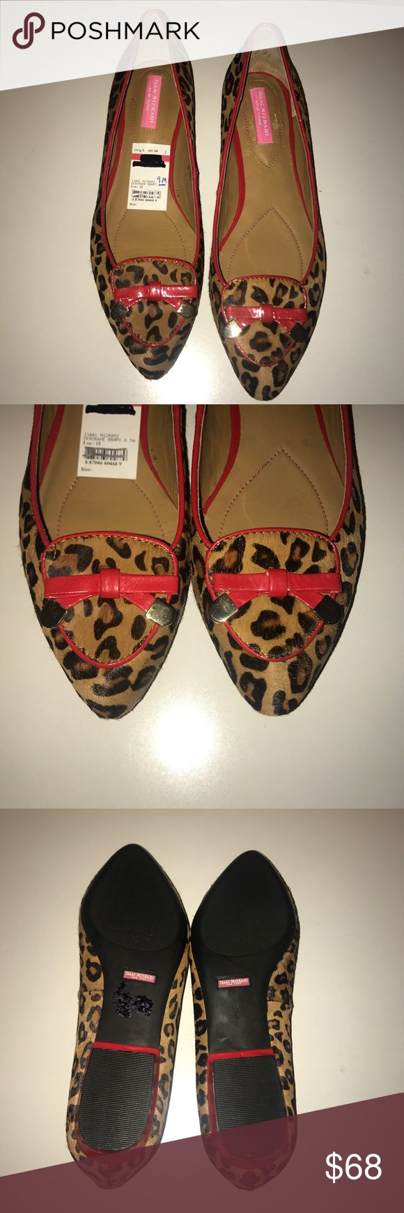 💜ISSAC MIZRAHI💜Pony Hair Leopard Loafers/Flats NWT 💜ISSAC MIZRAHI New York💜Pony Hair Leopard Loafers/Flats. Red Patent leather trim. Cushioned insole. Size -9M. Original cost $145 Issac Mizrahi New York Shoes Flats & Loafers