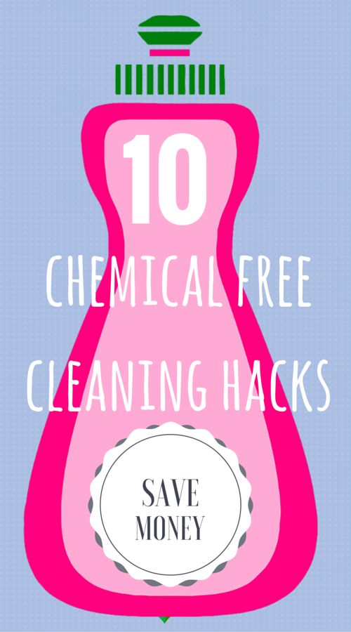 Try these chemical free cleaning hacks for around the home that will save you money and reduce your carbon footprint! #cleaning #hacks