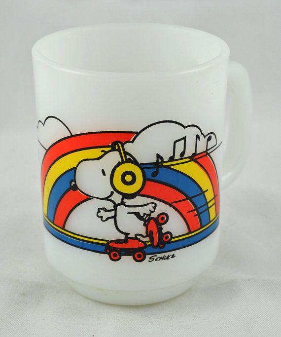 Peanuts mugs by Fire King