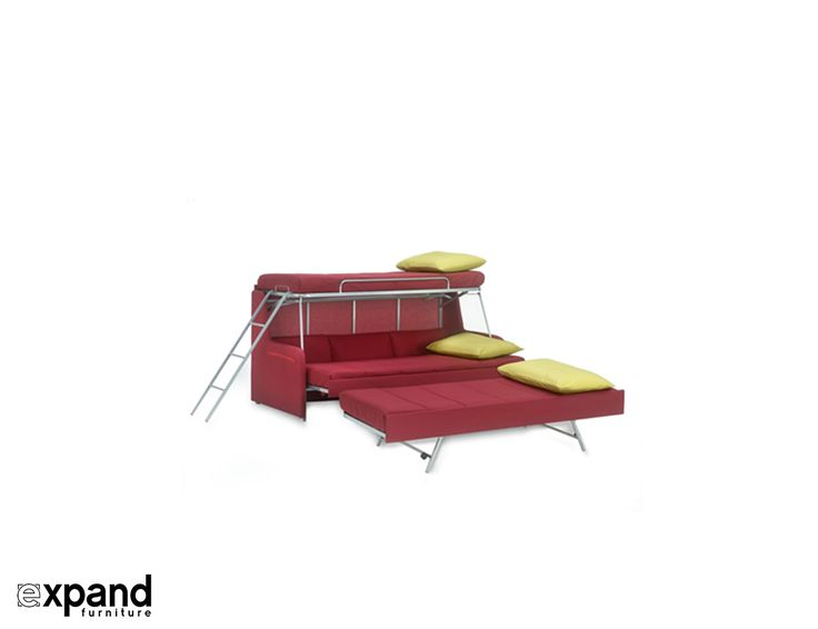 Italian Made Transforming Triple Twin Bunk Bed Couch For Sale Online Great For Any Multiple