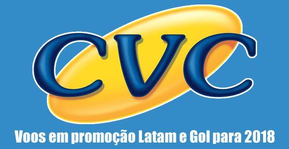 CVC 2018 – Voos promocionais Latam e Gol #gol #latam #cvc #passagens #voos #promoção #dicas #2018