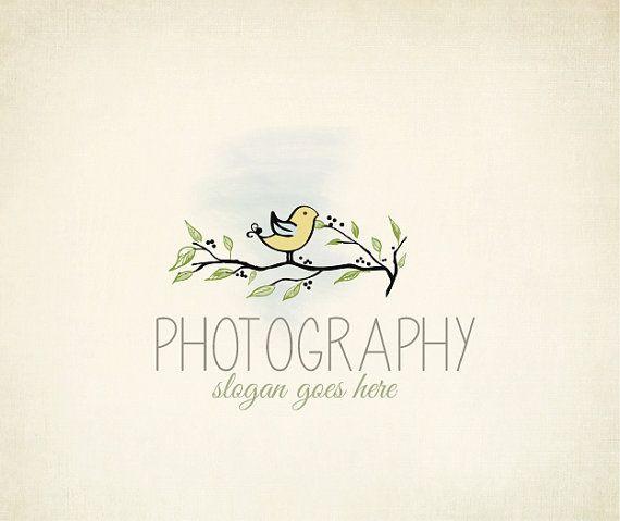 Custom Photography Bird Logo Design