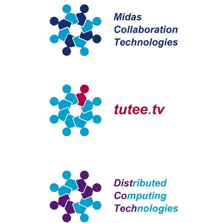 Logo voor Midas, Tuteetv en Distcotech. Het was mijn opdracht om voor mijn klant Midas  en de twee dochterondernemingen Distcotech en Tuteetv samenhangende logo's te ontwerpen. Centraal bij het ontwerpen stond het kernwoord 'collaboration'. De silhouetten staan symbool voor samenwerking tussen het moederbedrijf en dochterbedrijven en tussen het bedrijf en klanten.   Lees meer op mijn website!