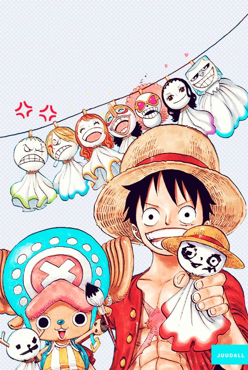 Straw Hat Pirates' Teru Teru Bouzu! We made these when I visited Japan this past month, and I always drew mine with a Luffy face! XD