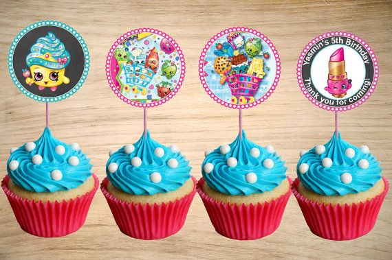 Shopkins Cupcake Toppers Shopkins Birthday by Partyboxinvites