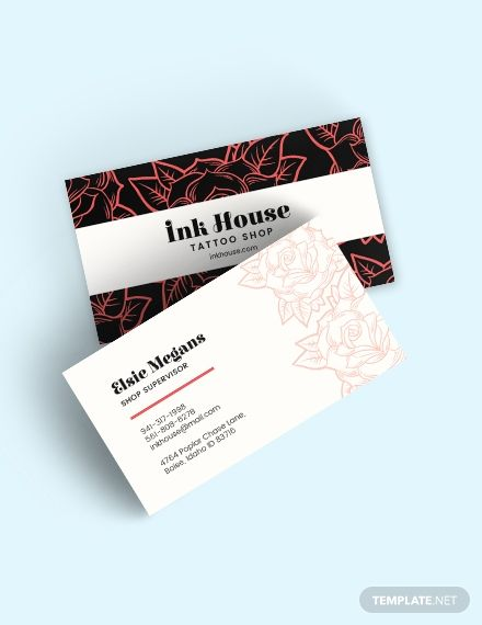 Tattoo Shop Business Card