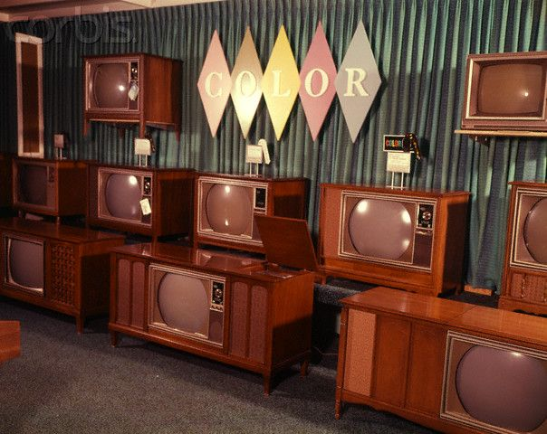 1966 | Display Of Color Television Sets For Sale...