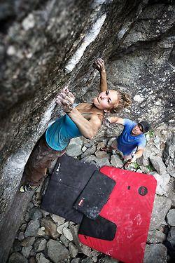 rock climbing on actual rock!
