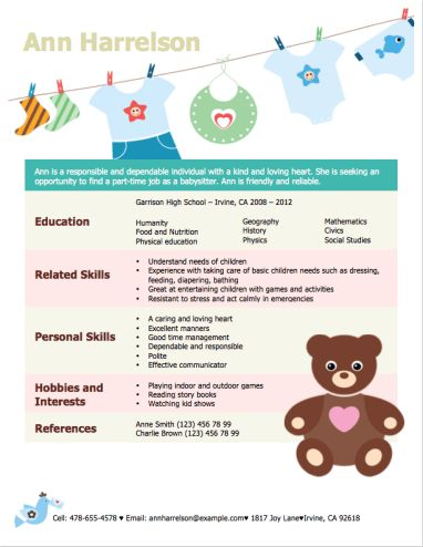Best 25+ High school resume ideas on Pinterest High school life - babysitting resume template