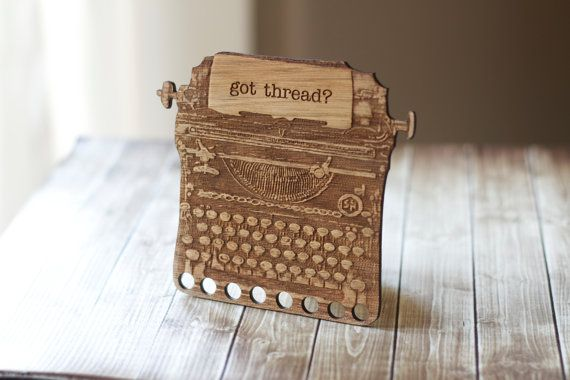 Hey, I found this really awesome Etsy listing at https://www.etsy.com/listing/178743759/thread-organizer-holder-typewriter-cross