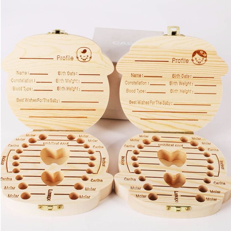 Wood Tooth box organizer save Milk teeth Wood storage Collecting teeth gifts umbilical cord lanugo creative for kid Boy Girl