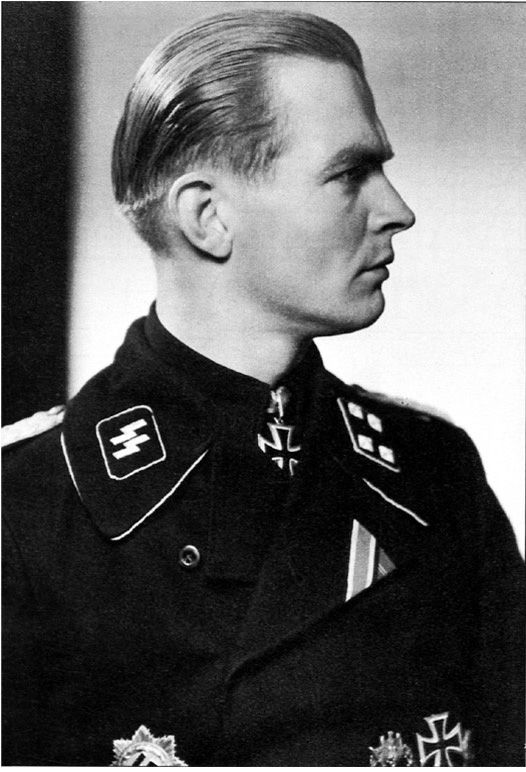 "Max Wünsche, who commanded Panzer Regiment 12 of the 12th SS-Panzer Division Hitlerjugend, was described by his captors as ""PW is definitely a museum piece. He is 150% Nordic warrior, wearing every order of the Iron Cross; an officer of the Leibstandarte since 1933 on and a fanatic of the most extreme order, with a well disciplined and calculating brain. His information is reliable on military matters, but his attitude is irreconcilable""."