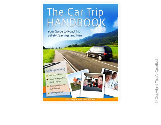 Car Trip Handbook Ecover Design  (Ebook Cover Design) by www.thatscreativeebookdesign.com.