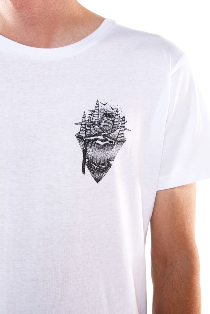 Floating Mountain Tee by Menis Art