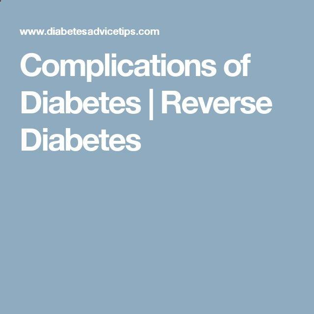 Complications of Diabetes | Reverse Diabetes