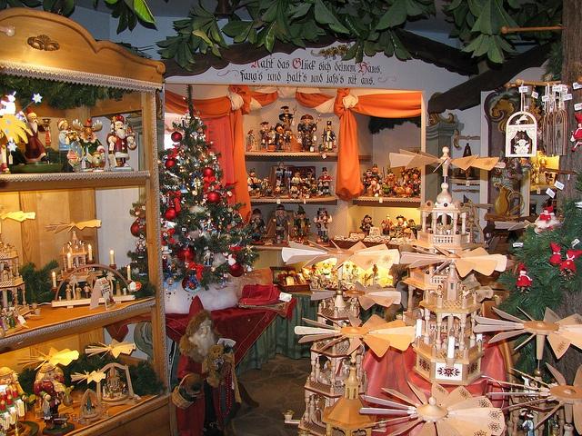 Christmas shop, Oberammergau by Gita22, via Flickr