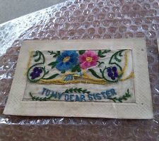 4 x WW1 EMBROIDERED SILK POSTCARDS