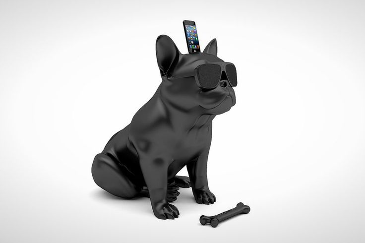 Made Us Look: A Wireless Speaker That Looks Like a French Bulldog via Brit + Co.