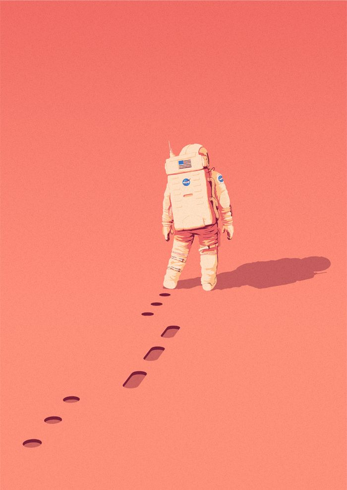 hermionejg:  matt-clough:  matt-clough:  The Martian by Andy Weir | Matt Harrison CloughIf you're interested in science fiction you will no doubt of heard of Andy Weir's brilliant debut novel The Martian, the story of an astronaut stranded on Mars, first published in 2012 and re-published earlier this year.The Martian quickly became one of my favourite novels, and I couldn't resist putting together my own cover illustration during some downtime this month. (Book template from GraphicBurger)…