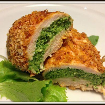 Healthy Recipe - Spinach stuffed turkey rolls