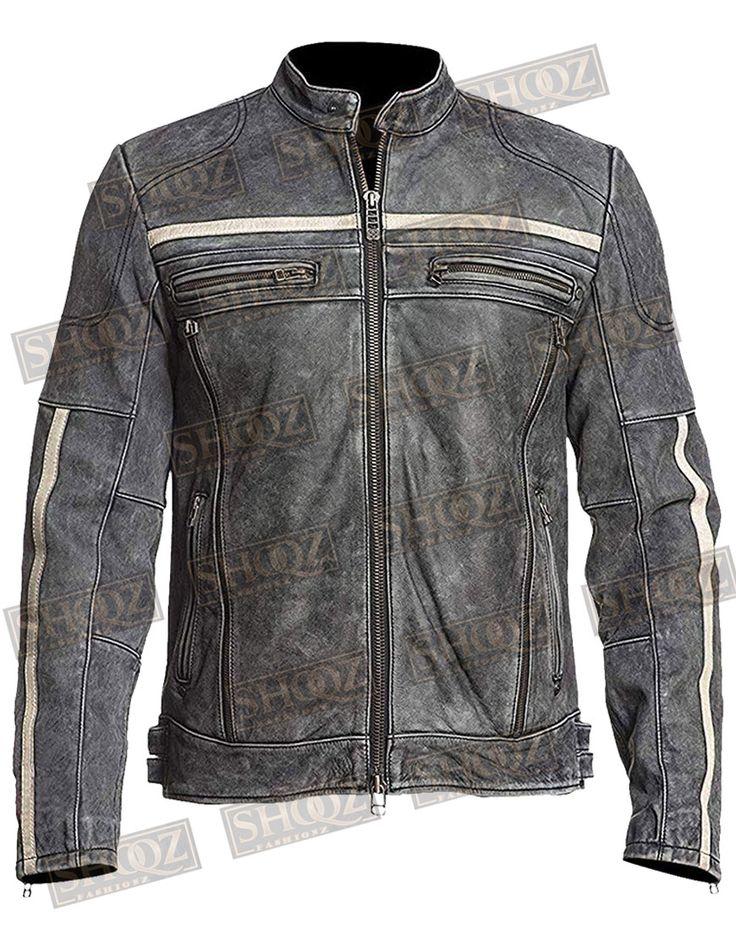 Affliction Cafe Racer Vintage Distressed Leather Jacket