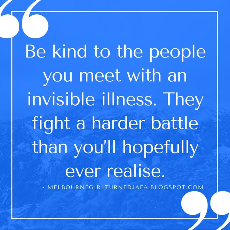 One of the lessons I've learnt from having Crohn's Disease is it's important to be kind to the people you meet with an invisible illness. They fight a harder battle than you'll hopefully ever realise #worldibdday2016  #invisibleillness