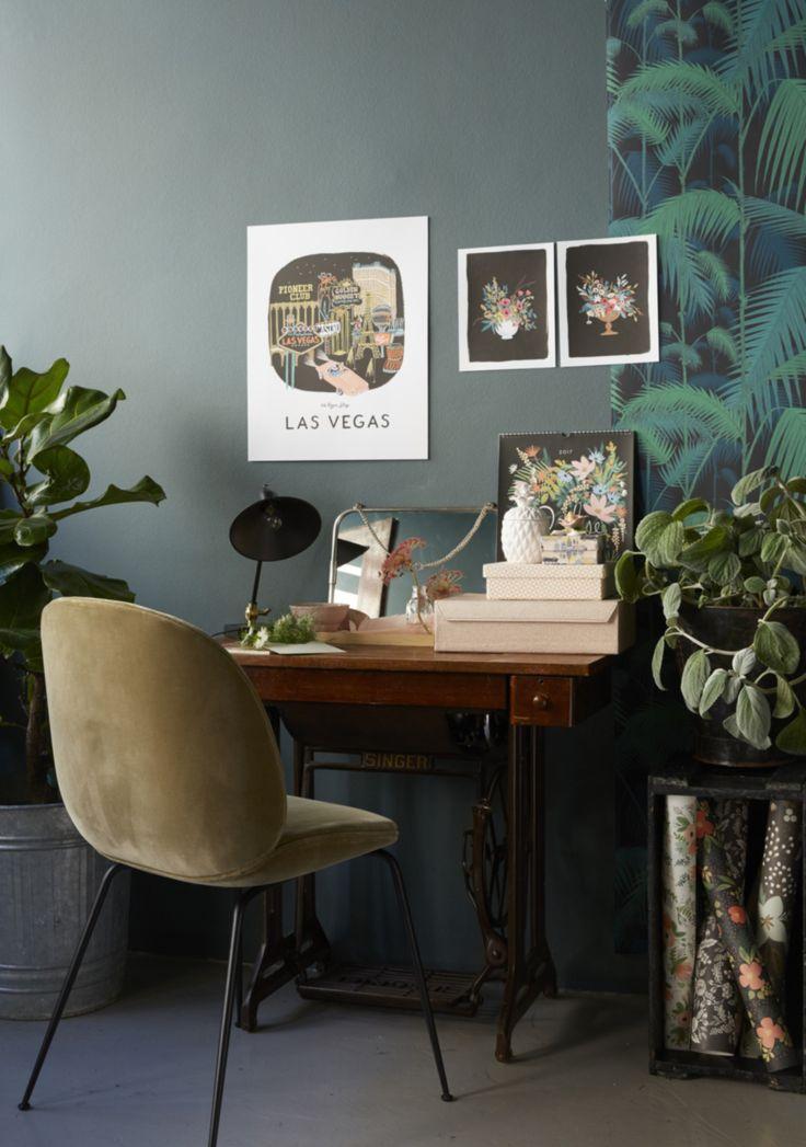 Inspiratieboost: een Gubi Beetle Chair in de home office - Roomed