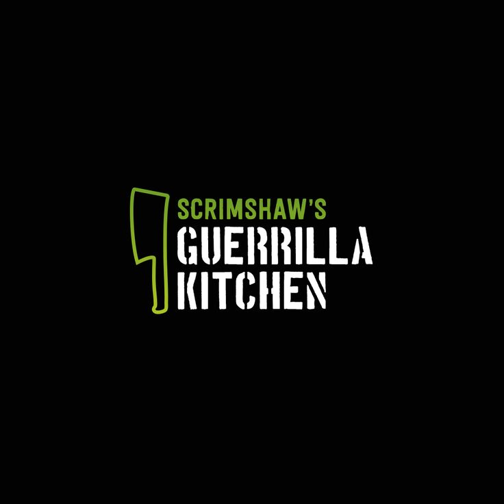 Branding for award-winning pop-up restaurant, Guerrilla Kitchen. #branding #logo #brandidentity #design
