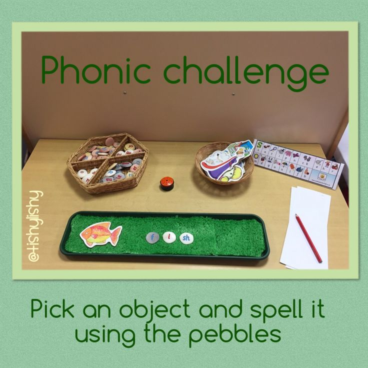 Phonic challenge - spell with the pebbles