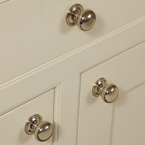 Door Handles Kitchen Cabinets: Hafele Polished Nickel Kitchen Door Knob, 31/38 Mm