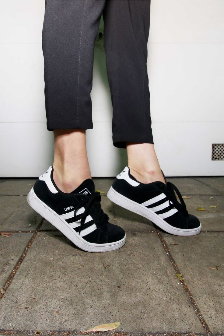 Adidas - campus, black and white