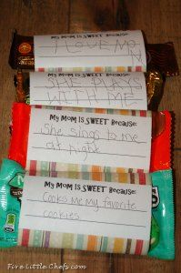 Free Printable - personalized Candy Bar Wrappers for Mothers Day!!