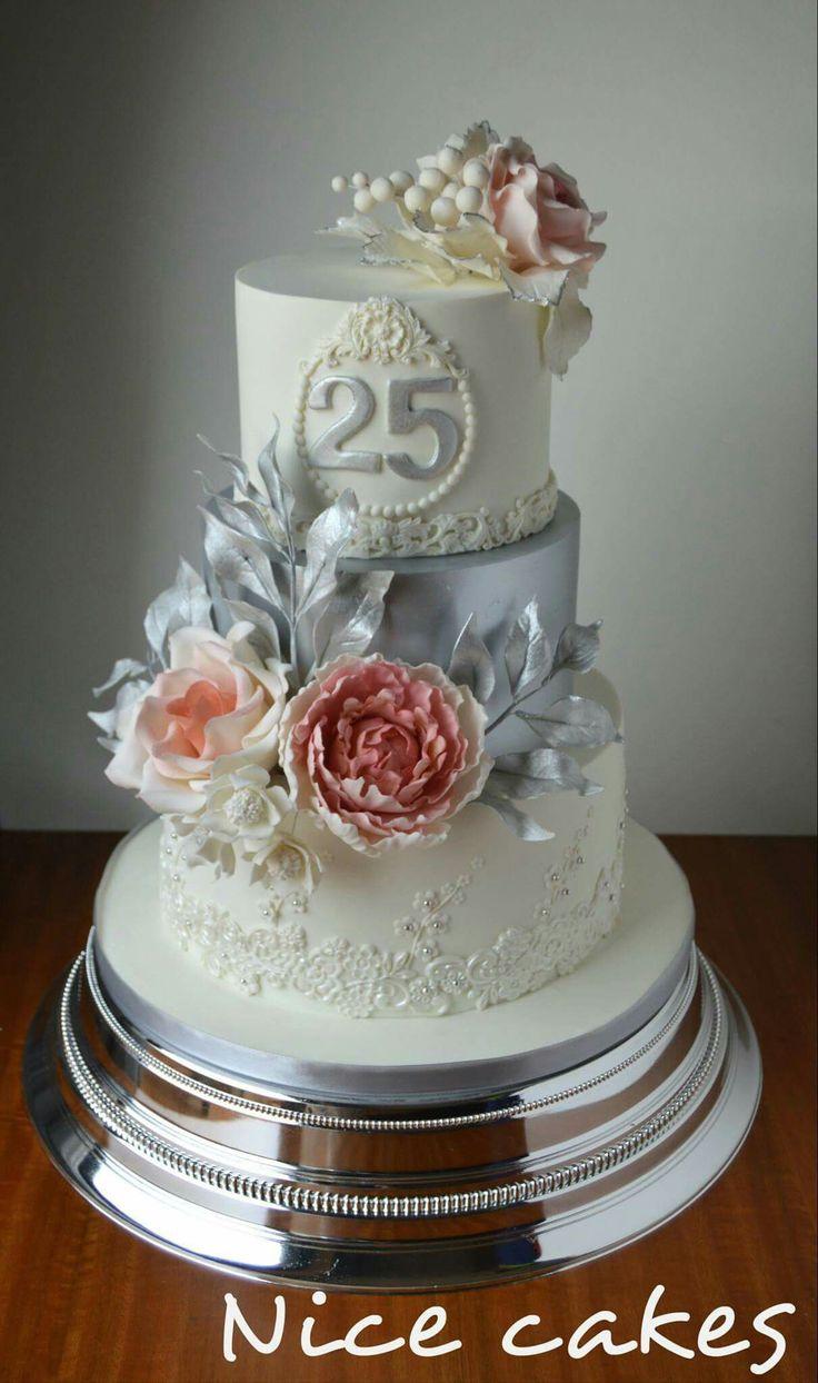 серебряная свадьба торты картинки правило, это