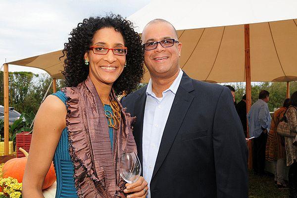 Chef Carla Hall and husband Matthew Lyons.