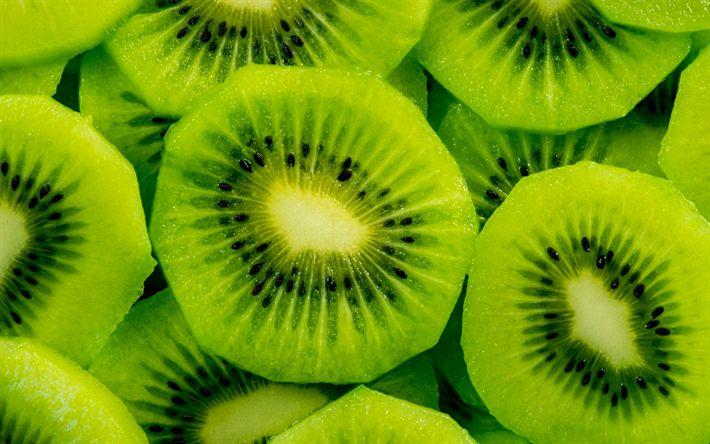 Download wallpapers kiwi, 4k, fruits, close-up, exotic fruit