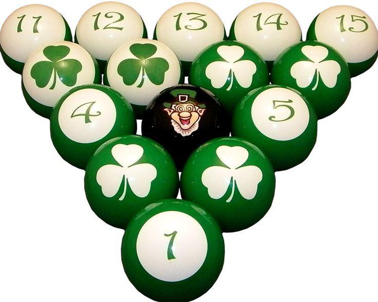 Luck of the Irish Pool / Billiard Ball Set