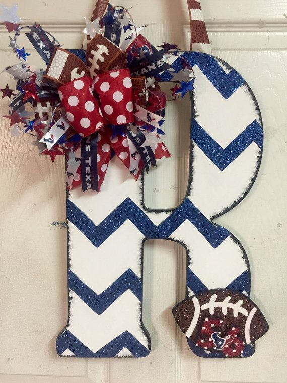 Houston Texans Wooden Door Hanger by HighMaintenanceDes on Etsy