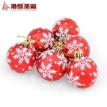 6 cm luz de la decoración del copo de nieve de color dibujo coloreado o patrón bola navidad (6), 64 gstyrofoam bolas de adorno artesanía(China (Mainland))