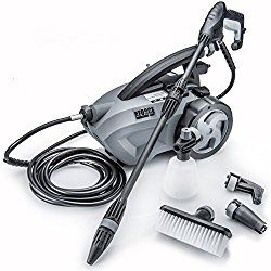 Powerhouse International – The Force 1800 – PULL BEHIND – 1.6 GPM 1800 PSI Electric Pressure Washer with 20 Foot Quick Connect Hose, 3 Different Nozzles, Nylon Brush, Soap dispenser