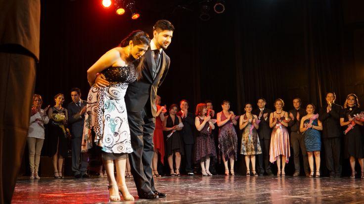 """""""Tango Obsesión"""" con sus alumnos e invitados. Teatro Diego Rivera, Puerto Montt, Chile. 10 Enero 2014."""