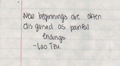 New Beginnings ... Lao Tsu