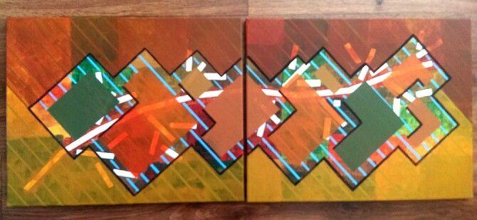 """""""Lluvia en la rama"""", acrilyc on canvas by @Erick Gutierrez 2013"""