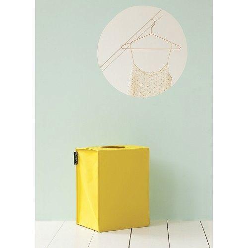 Kosz-torba na pranie BRABANTIA, prostokątna - żółta