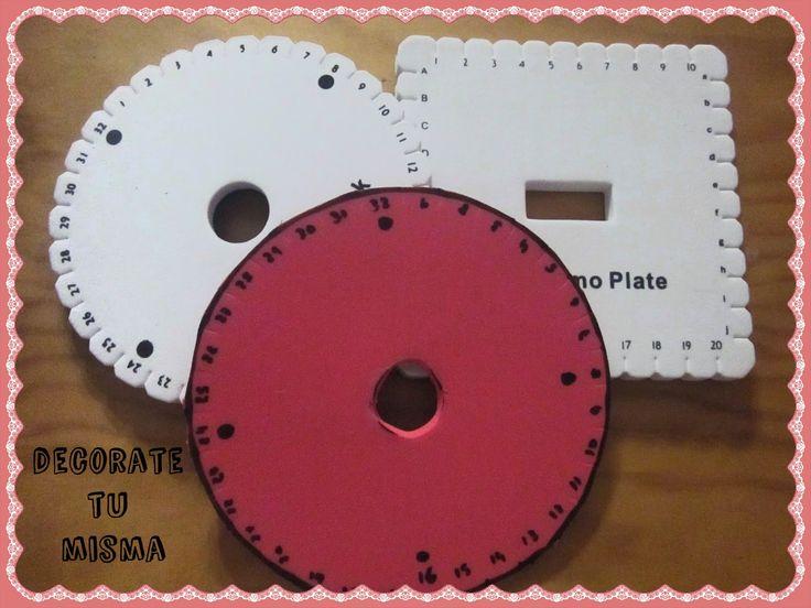 .Decorate tu misma.: Patrones y explicación de como hacernos los discos Kumihimo, redondo y cuadrado