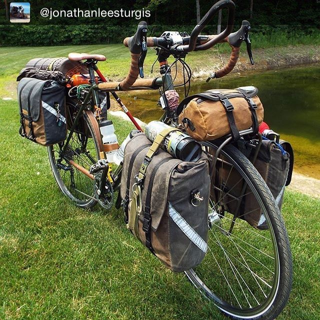 "1,415 Likes, 20 Comments - Inspirational bike loads (@bikepacks) on Instagram: ""Some good looking bags. Repost @jonathanleesturgis ・・・ ""#anhaicabagworks"" ・・・ #bikepacks…"""