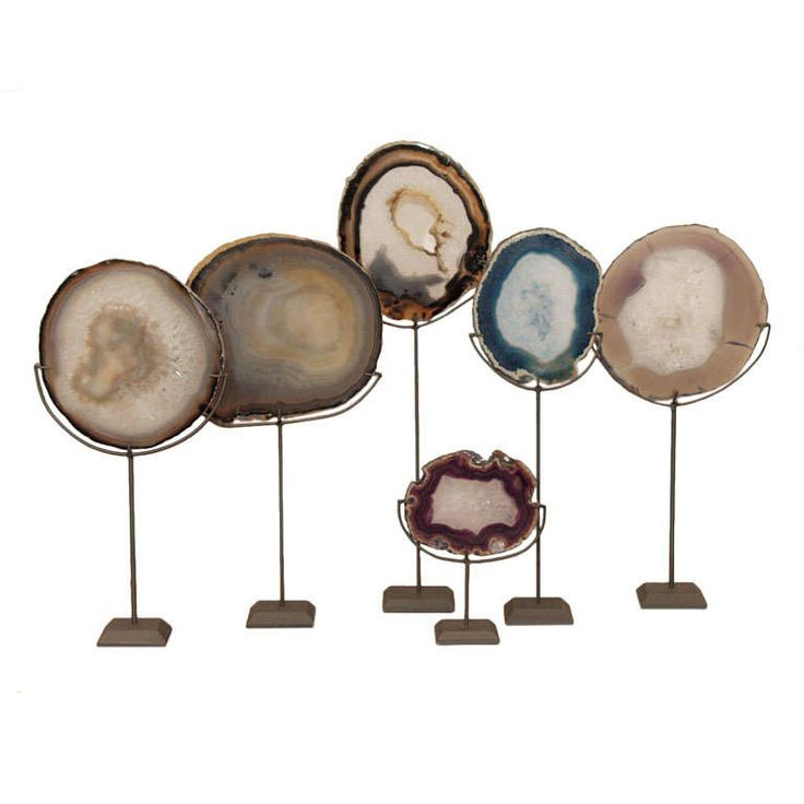 A Collection of Agate Specimens | From a unique collection of antique and modern decorative objects at https://www.1stdibs.com/furniture/decorative-objects/decorative-objects/